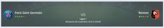 Votre pronostic PSG Rennes Ligue 1