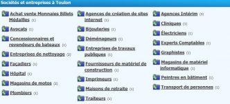 Les infos sur les entreprises de Toulon sont à retrouver sur Annuaire Varwebinfos