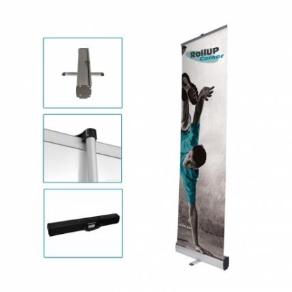 Le rollup, pour un stand portable pratique et efficace (grand modèle Rollup Corner)